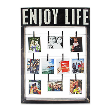 photo gifts - Box Sign Frame: Enjoy Life
