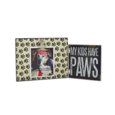 photo gifts - Hinged Frame: My Kids Have Paws